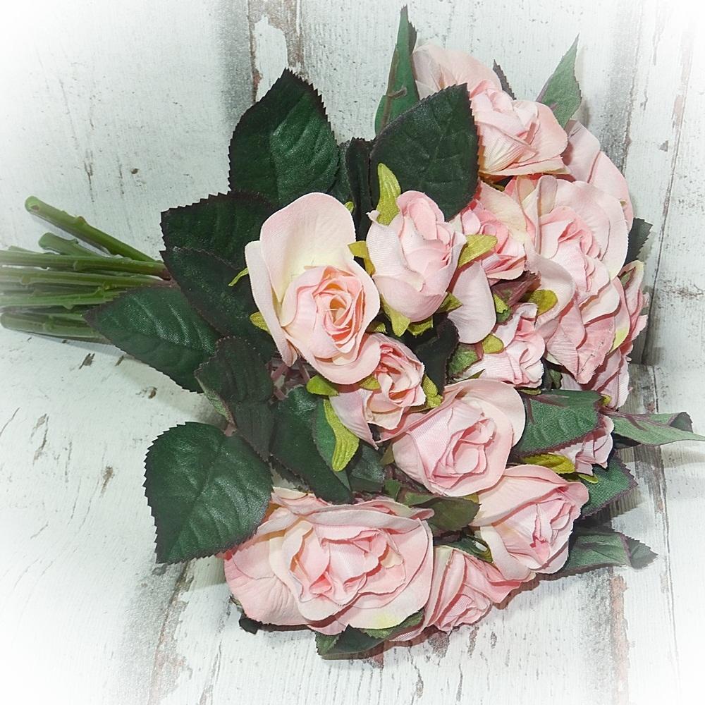 Rosen Strauß 27 Cm Rosa Künstliche Blumen Blume Kunstblumen Kunstblume
