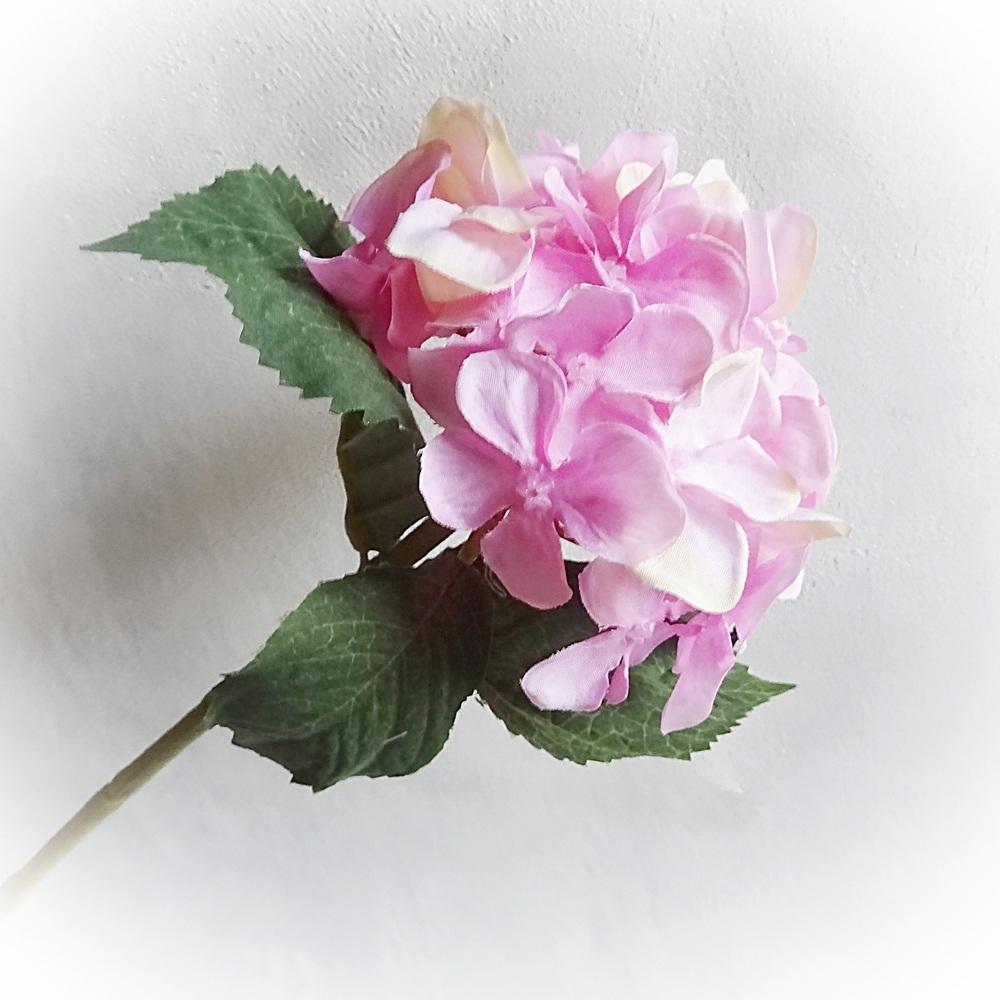 Kunstliche Hortensie Melange Rosa Mit Stiel 27 Cm Kunstblume