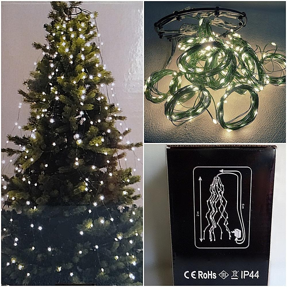 Lichterkette Weihnachtsbaum.Lichterkette Weihnachtsbaum Christ Baum Beleuchtung 256 Led 16 Stränge Je 1 90 M
