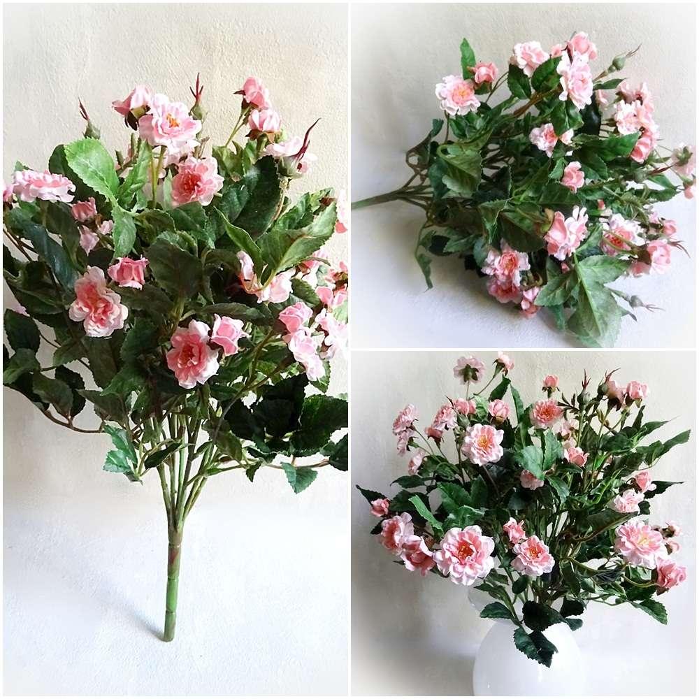Rosen Strauss Rosenbusch 40cm Rosa Kunstliche Blumen Blume